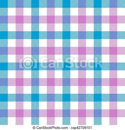 Superieur Purple Blue Check Tablecloth Seamless Pattern. Vector Illustration. Eps 10.