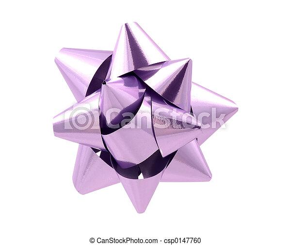 Purple Bow - Clipping Path - csp0147760