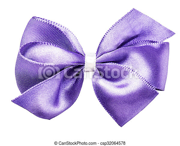 purple bow ribbon - csp32064578