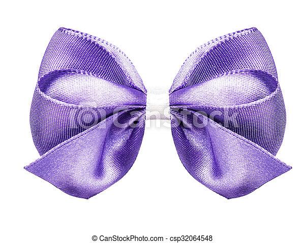 purple bow ribbon - csp32064548