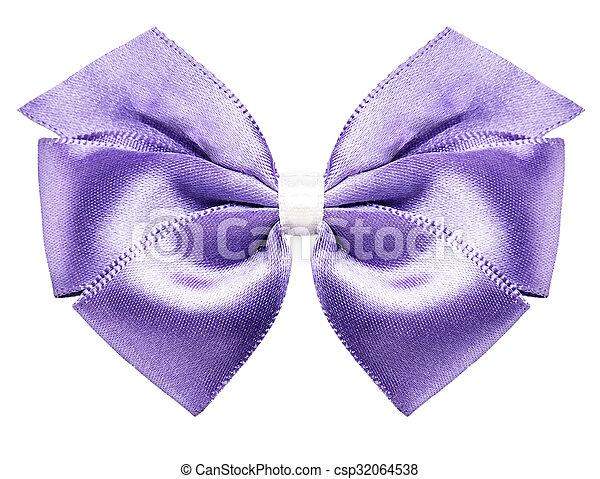 purple bow ribbon - csp32064538