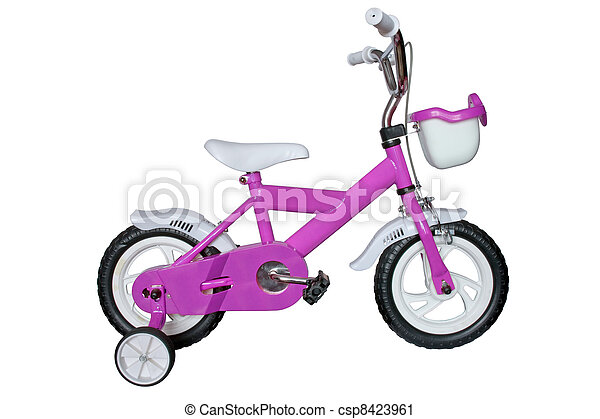 purple children's bicycle - csp8423961