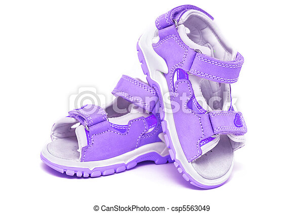 Purple child's sandals - csp5563049