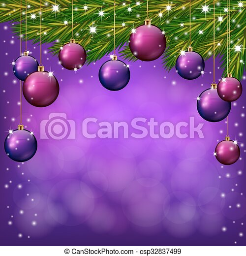 an editable vector illustration of purple christmas background