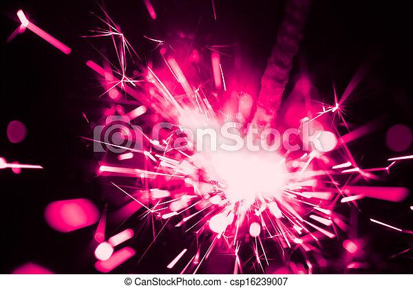 purple christmas sparkler - csp16239007