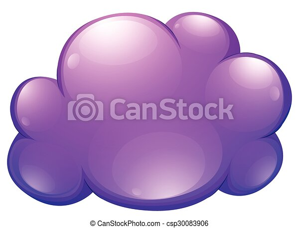 Purple cloud on white - csp30083906