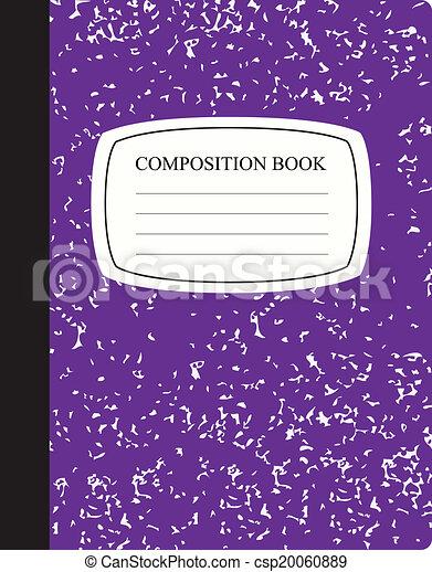 Attractive Purple Composition Book   Csp20060889