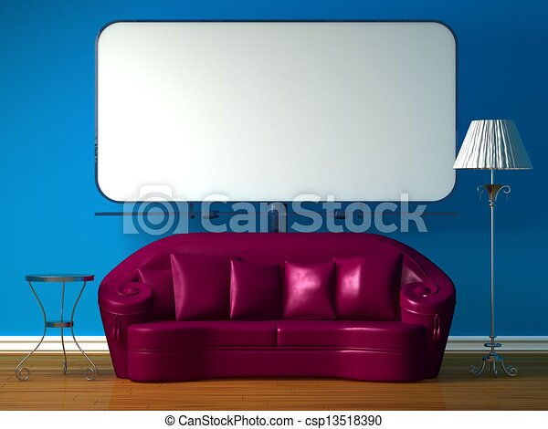 Astonishing Purple Couch Table And Lamp Theyellowbook Wood Chair Design Ideas Theyellowbookinfo