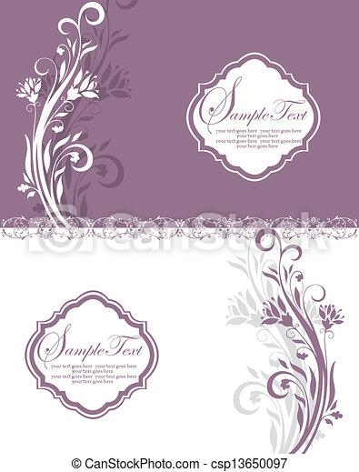 Purple Floral Bridal Shower Invitat