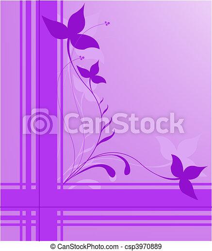 purple floral design - csp3970889