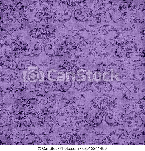 Purple Floral Tapestry Pattern - csp12241480