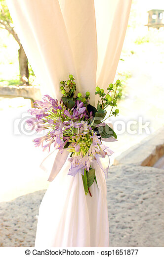 Purple flower bouquet with gathered white curtains purple bouquet purple flower bouquet with gathered white curtains csp1651877 mightylinksfo