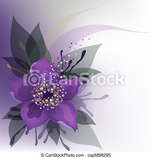 Purple flower beautiful decorative background with purple flower purple flower csp6898295 mightylinksfo