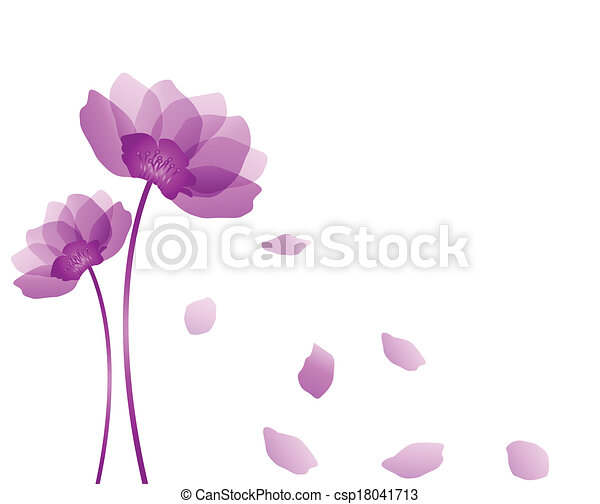 Purple flower - csp18041713