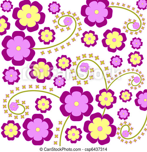 Purple flowers - csp6437314