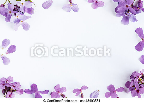 Purple flowers on white marble background with room for text purple purple flowers on white marble background with room for text csp48493551 mightylinksfo