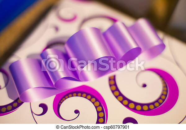 Purple Gift Bow - csp60797901