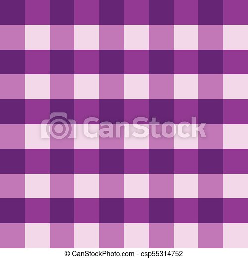 Charmant Purple Gingham Tablecloth Seamless Vector Background Pattern Design