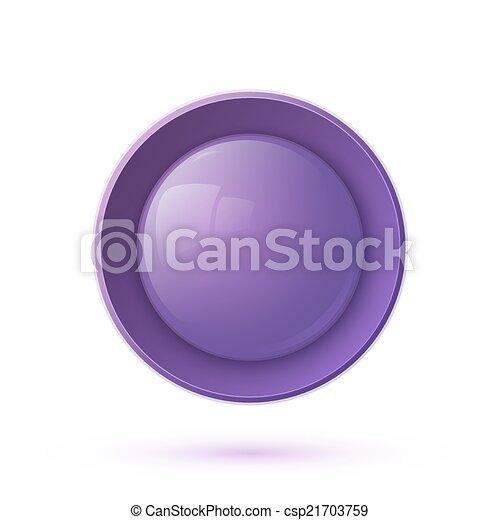 Purple glossy button icon - csp21703759