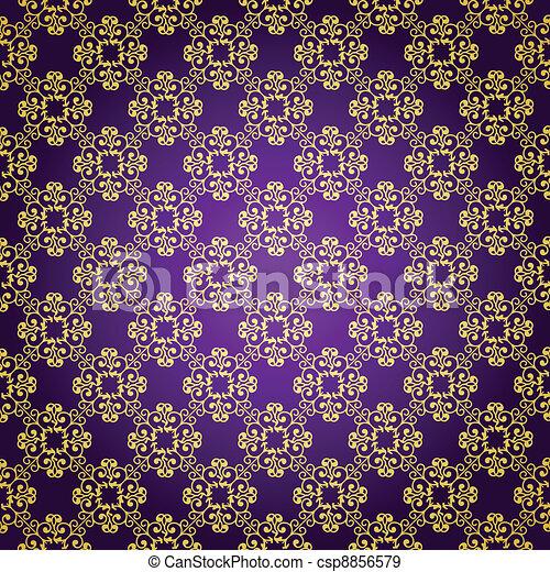 Purple & gold background - csp8856579