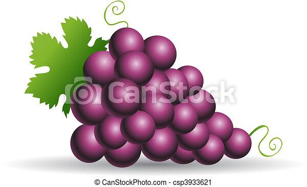 Purple grapes - csp3933621