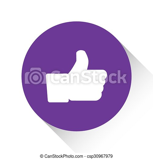 Purple Icon Isolated on a White Background - Like - csp30967979