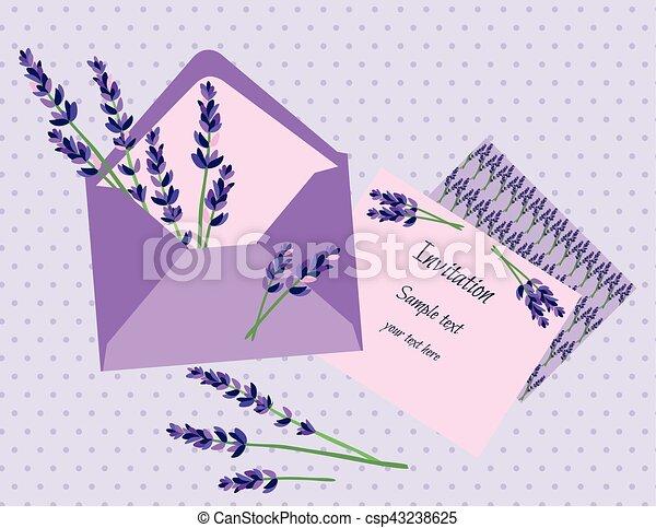 Purple Lavender Invitation Card