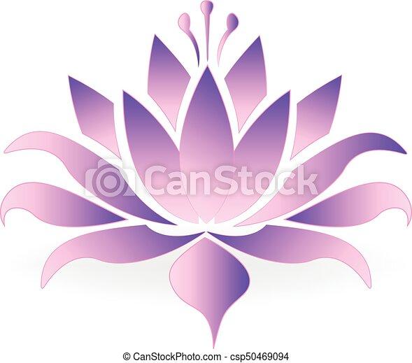 Purple lotus flower logo icon vector design purple lotus flower logo csp50469094 mightylinksfo