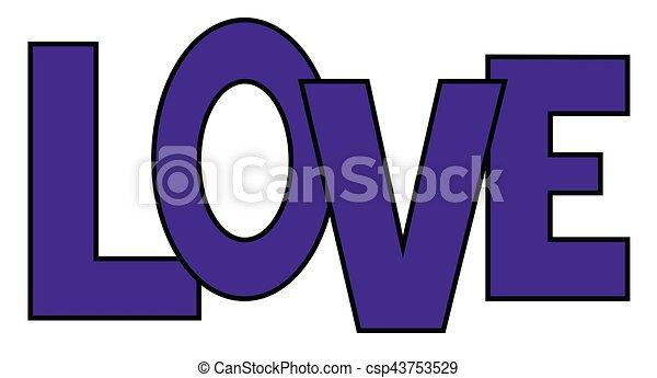 Purple Love - csp43753529