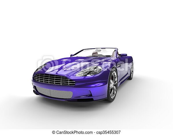 Purple metallic sports car - csp35455307