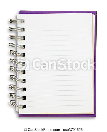 Purple Note Book - csp3791625
