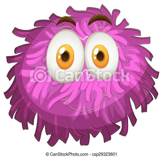 purple pom-pom with happy face illustration vector clipart - search