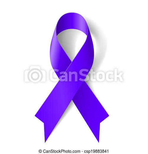Purple ribbon - csp19883841