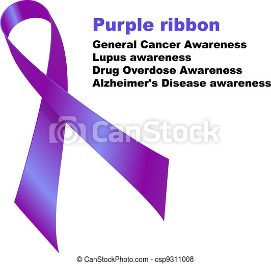 Purple ribbon - csp9311008