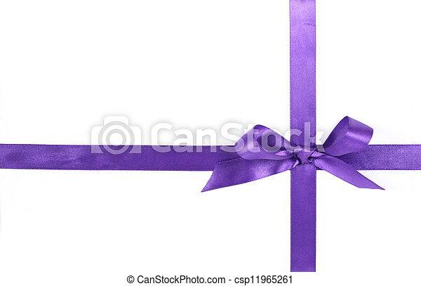 purple ribbon - csp11965261