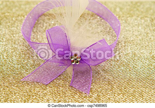Purple ribbon - csp7498965