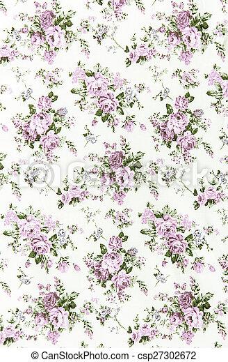purple rose vintage on fabric background. - csp27302672
