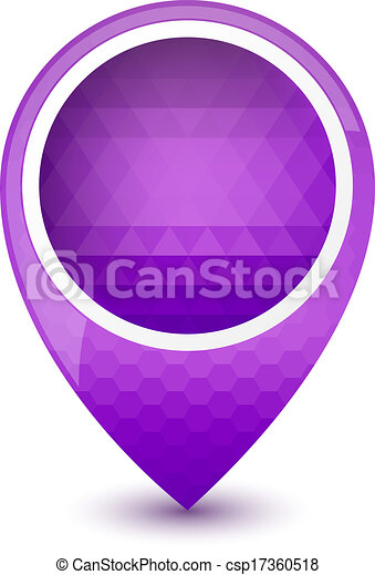 Purple round 3D map pointer - csp17360518