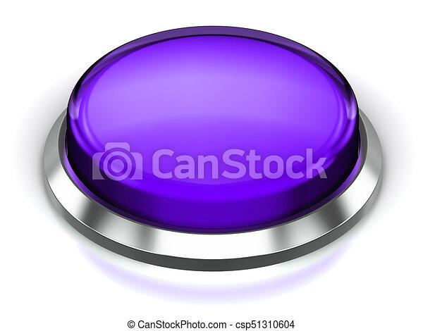 Purple round button - csp51310604