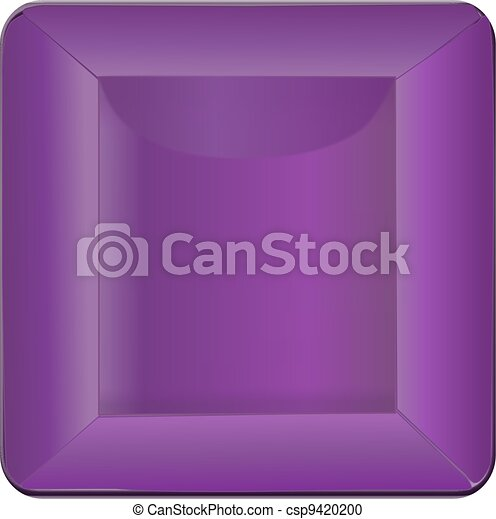 Purple Square Button - csp9420200