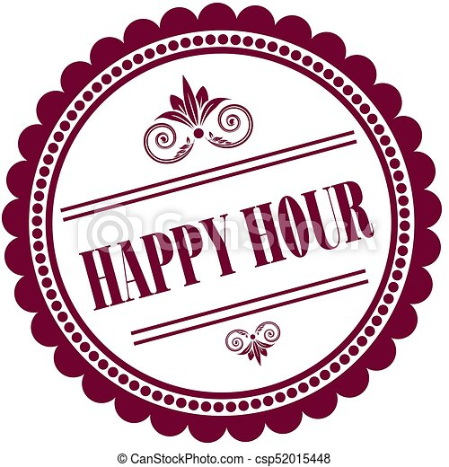 purple stamp with happy hour illustration image concept drawing rh canstockphoto com happy hour clip art free friday happy hour clip art