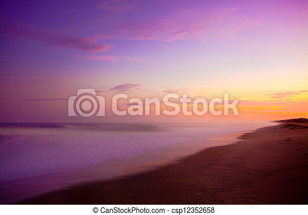 purple sunrise sunrise by the beach and ocean with purple stock rh canstockphoto com Mountain Sunrise Clip Art Cartoon Sunrise Clip Art