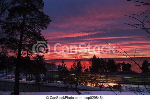 Purple Sunset - csp0298464