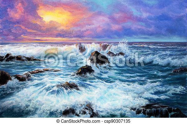 Purple sunset - csp90307135