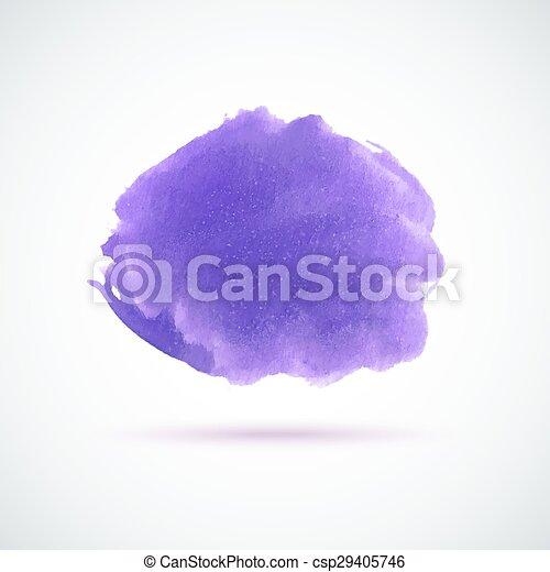 Purple Watercolor Spot