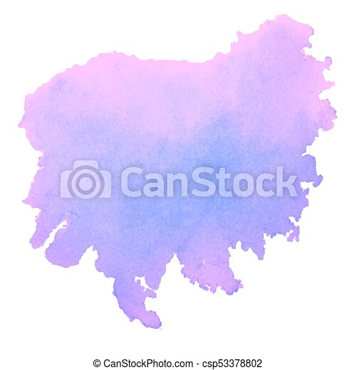Purple Watercolor Stain Isolated On White Background