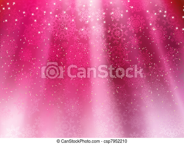 Purple wave background with snowflakes. EPS 8 - csp7952210