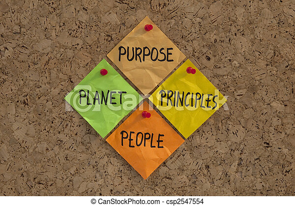 Purpose, People, Planet, Principles maxim - csp2547554