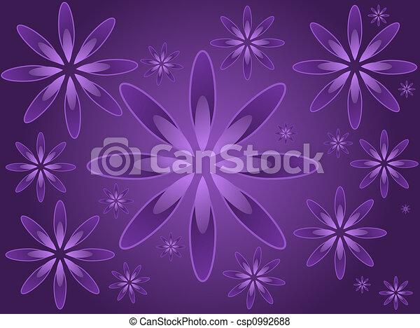 purpurfärgade blommor - csp0992688