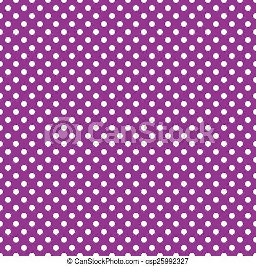 purpurowy, backgroun, polka, seamless, kropka - csp25992327